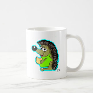 azul do ouriço caneca de café