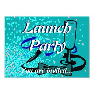 Azul do partido do lançamento da grande convite personalizados