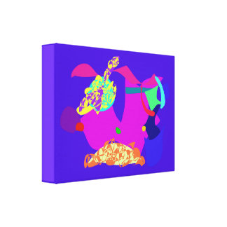 Azul do tesouro impressão de canvas esticada