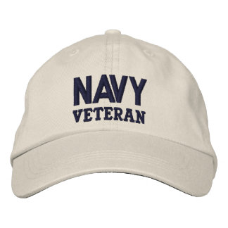 Azul do veterano do marinho no marfim boné