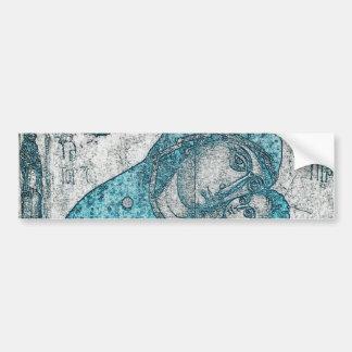 Azul do vintage do Jesus Cristo da Virgem Maria e Adesivo Para Carro