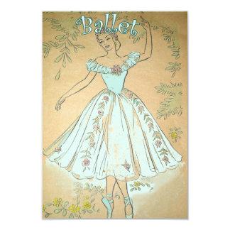 Azul do vintage dos convites do balé