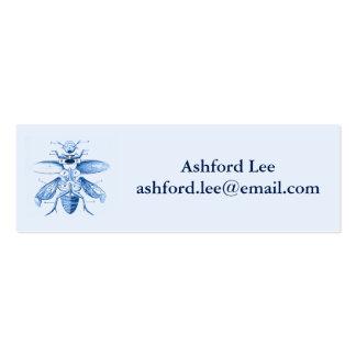 Azul dos besouros   da imagem   do inseto do cartão de visita skinny
