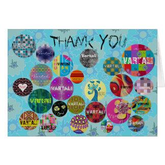 Azul dos cartões de agradecimentos 8 de Vartali