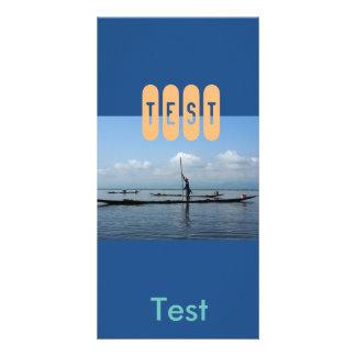 azul dos cartões de fotos cartão com foto