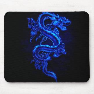 azul-dragão-preto-fogo mouse pad