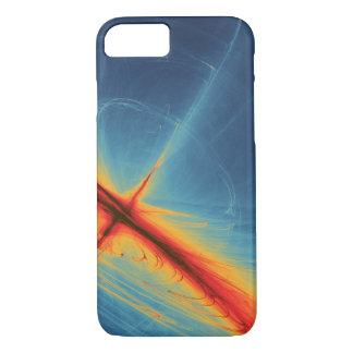 Azul e abstrato da laranja capa iPhone 8/7