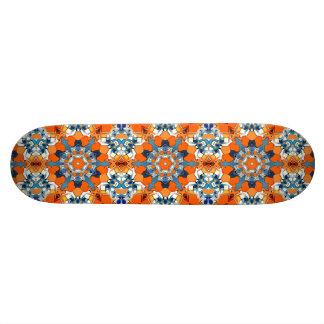 Azul e abstrato da laranja shape de skate 18,4cm