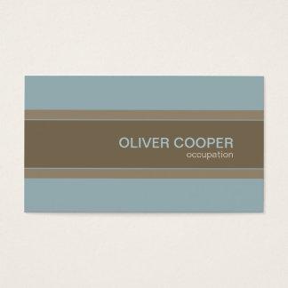 Azul e Brown modernos das cores de terra do cartão
