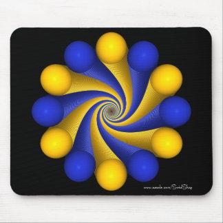 Azul e claro - laranja mousepads