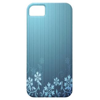 Azul e floral capa de iPhone 5 Case-Mate