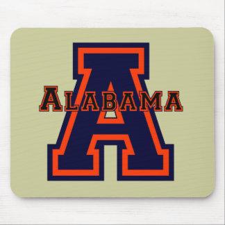 "Azul e laranja de Alabama ""A"" Mousepad"