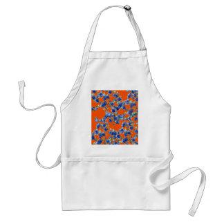 azul e laranja do hydrangea avental