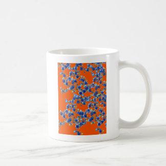 azul e laranja do hydrangea caneca de café