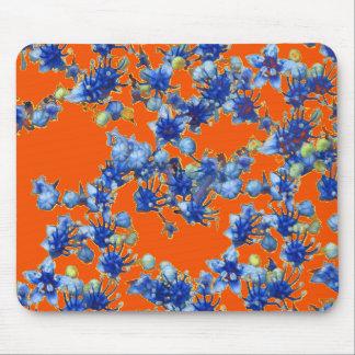 azul e laranja do hydrangea mouse pad