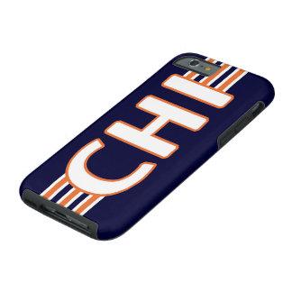 Azul e laranja do QUI de Chicago Capa Tough Para iPhone 6