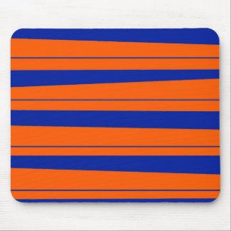 Azul e laranja listra o teste padrão corajoso dos  mousepad