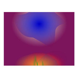 Azul e laranja no suco de uva puro cartão postal