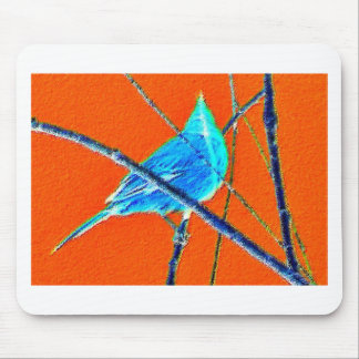 Azul e laranja mousepad