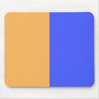 Azul e laranja mouse pads