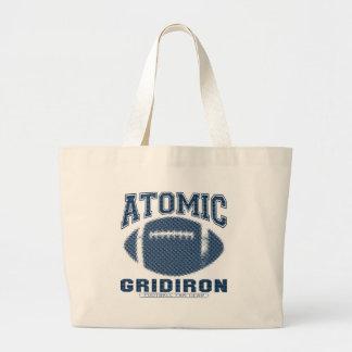 Azul e prata atômicos da grelha bolsas para compras