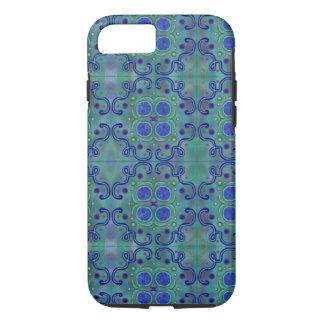 Azul e verde capa iPhone 7