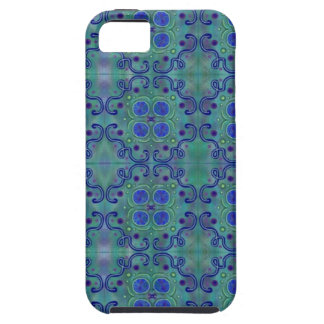 Azul e verde capa tough para iPhone 5