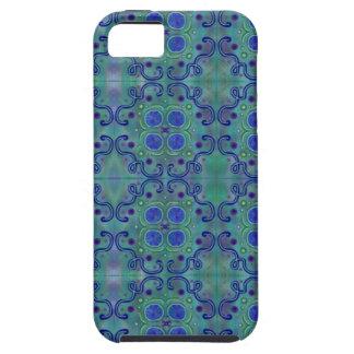 Azul e verde capa tough para iPhone 5
