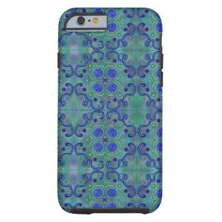 Azul e verde capa tough para iPhone 6