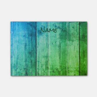 Azul e verde legal sticky note
