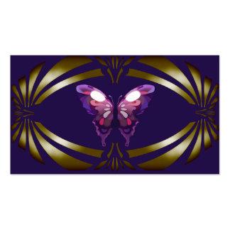 Azul elegante do ouro da borboleta do vintage cartão de visita