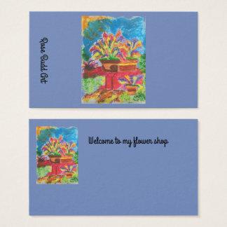 azul escuro padrão do cartão de visita