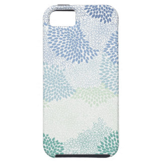 "Azul estourado ""flor"" capa para iPhone 5"