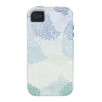 """Azul estourado """"flor"""" capas para iPhone 4/4S"""