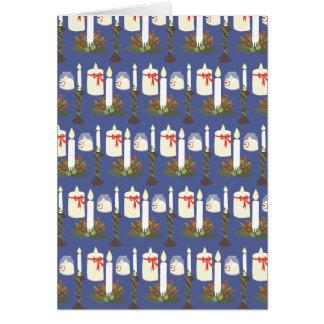 Azul festivo do impressão da vela cartão