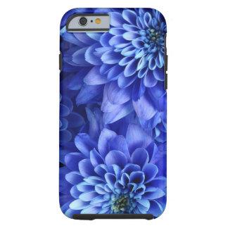 Azul floral capa tough para iPhone 6