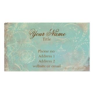 Azul francês Toile do vintage & cartões de visitas