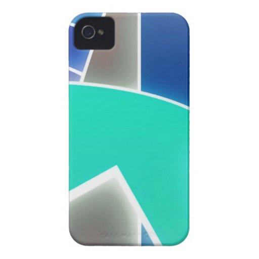 Azul Funky Capa iPhone 4 Case-Mate