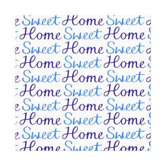 Azul Home doce Home & branco do teste padrão do ro