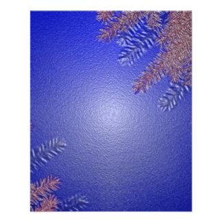 Azul II da poinsétia do Natal Modelos De Panfleto