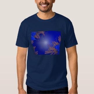 Azul II da poinsétia do Natal T-shirts