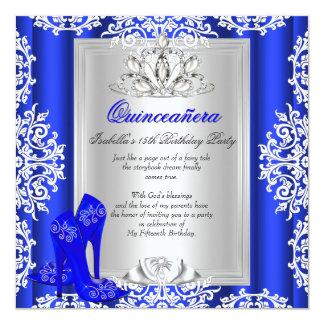 Azul marinho do aniversário de Quinceanera o 15o Convites
