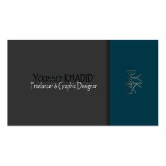 Azul moderno para enegrecer o cartão de visita