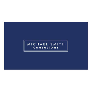 Azul moderno simples liso elegante profissional cartão de visita