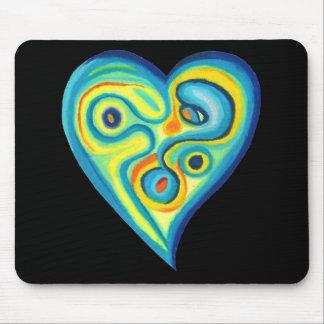 Azul Mousepad do coração do amor