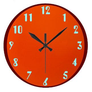 Azul na laranja relógios para paredes