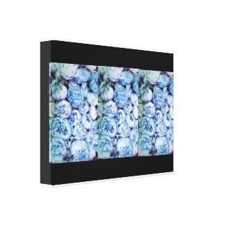 azul no preto impressão de canvas esticadas
