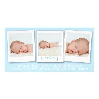 Azul novo das fotos   do múltiplo do cartão com