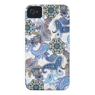 azul paisley-iphone-Samsung da capa de telefone iPhone 4 Capas
