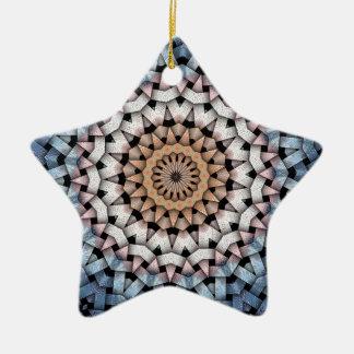 azul pastel ornamento de cerâmica estrela